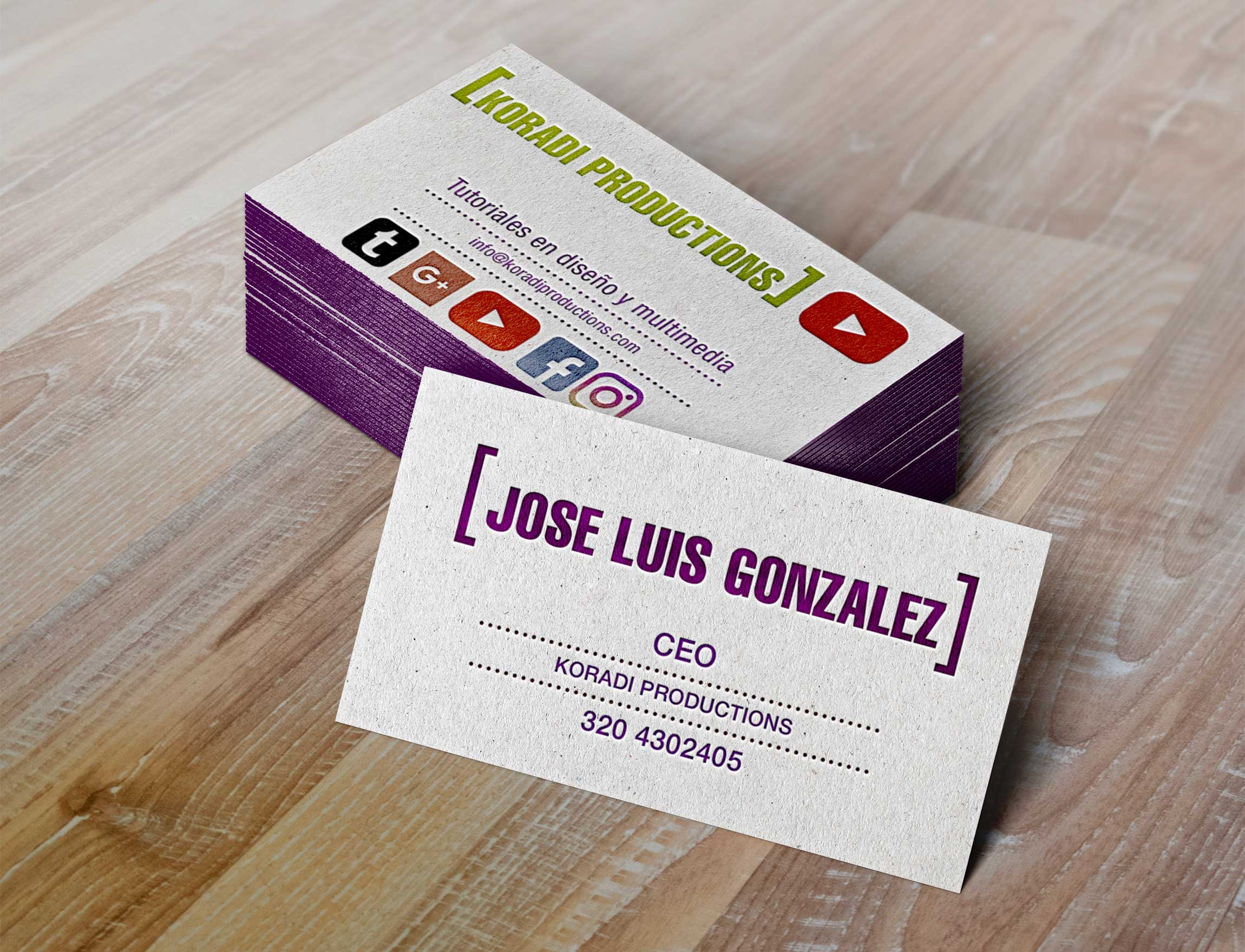 Tarjetas 4x4 Full color Mate +UV