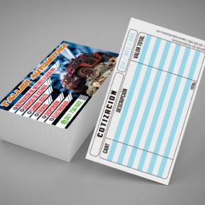 tarjetas brillantes 4×2
