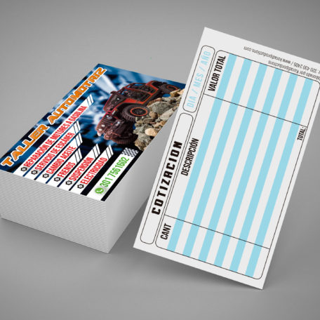 tarjetas brillantes 4x2