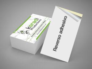 tarjetas adhesivas